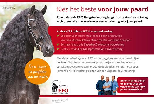 Advertentie EFO paardenverzekering